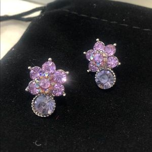 Gorgeous Lilac Crystal Earring,NWT